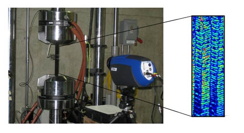 Use of infrared thermography to investigate the fatigue behavior of a carbon fiber reinforced polymer composite