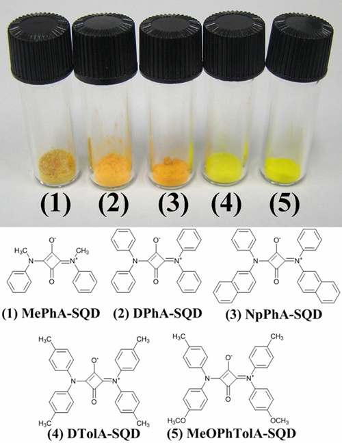 Synthesis and electrochemical properties of symmetric squarylium dyes containing diarylamine