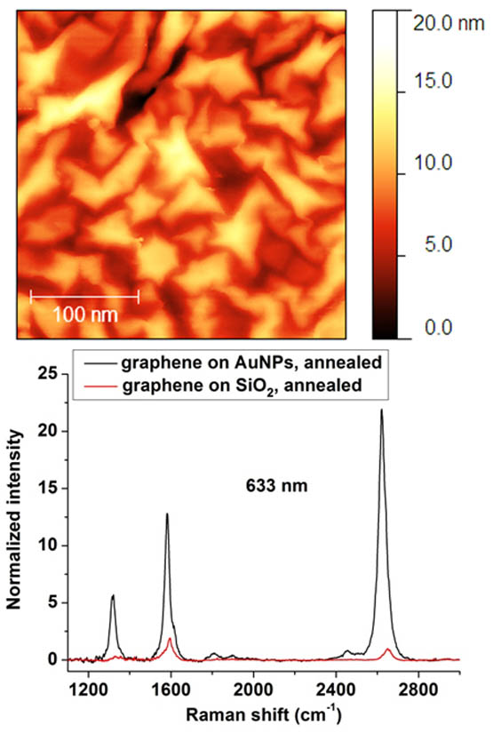 The structure and properties of graphene on gold nanoparticles. Advances In Engineering