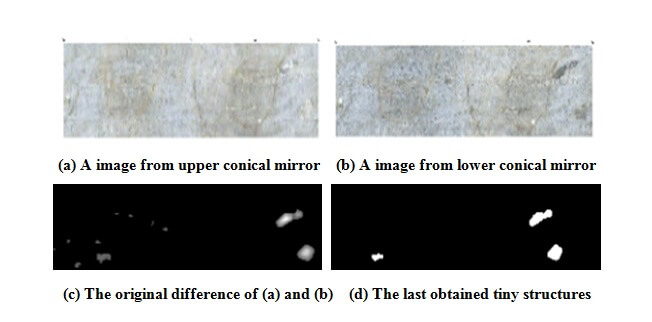 Figs. 6. Some differences of tiny structures in rock mass obtained by stereopair images - Advanced Engineering