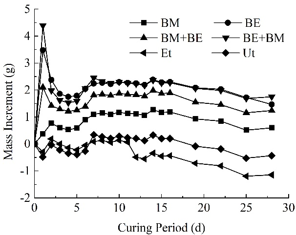 Weight changes during the curing period - Advanced Engineering