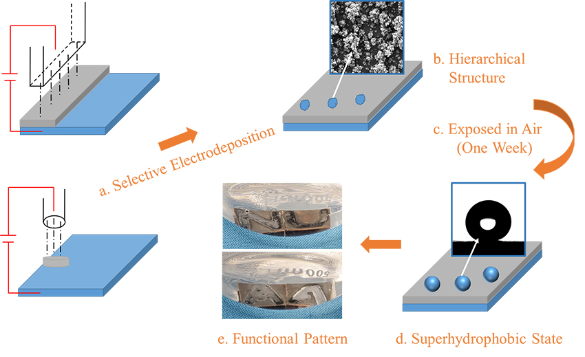 Superhydrophobic nickel coating fabricated by 3D printing-like scanning electrodeposition - Advances in Engineering
