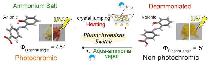 In-Situ Photochromism Switching with Crystal Jumping through the Deammoniation of N-Salicylideneaniline Ammonium Salt - Advances in Engineering