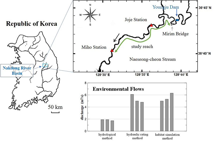 Comparison of environmental flows from a habitat suitability perspective: A case study in the Naeseong-cheon Stream in Korea - Advances in Engineering