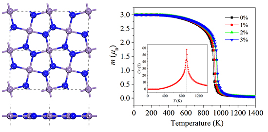 High Curie temperature ferromagnetism in penta-MnN2 monolayer - Advances in Engineering