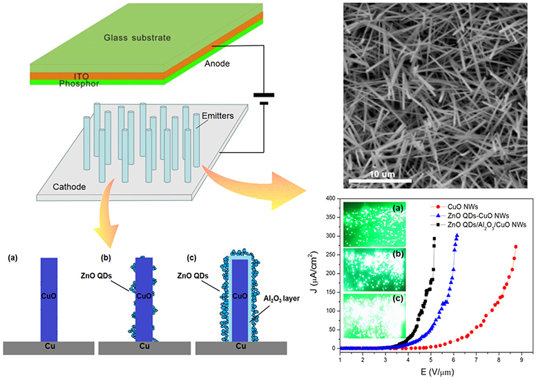 Field emission enhancement of composite structure of ZnO quantum dots and CuO nanowires by Al2O3 transition layer optimization - Advances in Engineering