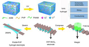 Extremely stretchable, sticky and conductive double-network ionic hydrogel for ultra-stretchable and compressible supercapacitors - Advances in Engineering