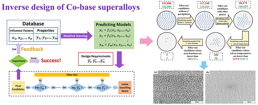 Accelerated design of L12-strengthened Co-base superalloys based on machine learning of experimental data - Advances in Engineering